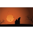 At afternoon Halloween castle scenery vector image vector image