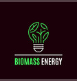 biomass energy logo template flat style icon vector image vector image