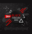 black friday sale backgroundabstract composition vector image vector image