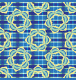 bold plaid floral seamless pattern boho vector image vector image