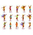 brazilian carnival isometric people vector image vector image