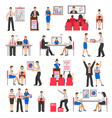 Business Training Set vector image vector image