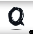 Calligraphic watercolor letter Q vector image