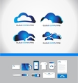 Cloud computing technology logo vector image vector image