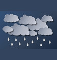 clouds and rain in night vector image vector image
