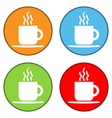 Coffee button set vector image vector image