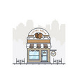 coffee shop store building in flat design vector image vector image