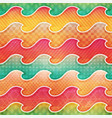 colored wave seamless pattern vector image