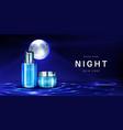cosmetics for night skin care banner cream jar