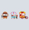 creative detailed street coffee cart donat vector image vector image
