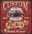 custom street rod garage vector image