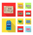 design of ticket and admission icon vector image