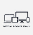 device icons smart phone tablet laptop and vector image
