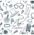 Doodle pattern hipster vector image vector image