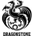 dragon hydra symbol art vector image vector image