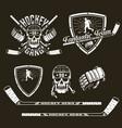 emblem hockey team vector image vector image