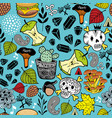 endless pattern with skulls and bits vector image vector image