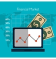 Financial market graphic vector image vector image
