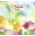 Floral background with highlights vector image vector image