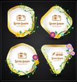 Flower frames set vector image vector image