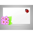 flowers and ladybird vector image