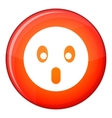 Frightened emoticon flat style vector image vector image