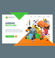 garbage recycling signs 3d landing web page vector image vector image