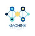 geometric machine learning logo data mining vector image vector image