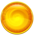Golden button with pattern vector image vector image