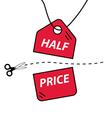 Half price cut vector image vector image