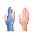 hand with brace vector image