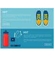 hiit sportswear sport shoes and helpful gadgets vector image vector image