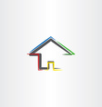 home icon real estate sign house symbol vector image vector image