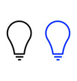 light bulb line icon vector image