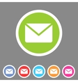 Mail post envelope icon flat web sign symbol logo vector image vector image