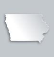 Map of Iowa vector image vector image