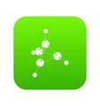 methanol icon green vector image vector image
