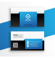 modern blue business card design template layout vector image vector image