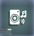 music column disco music melody speaker icon vector image vector image
