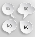 No White flat buttons on gray background vector image vector image