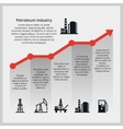 Oil price Increasing price of oil vector image