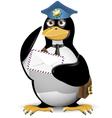 penguin postman vector image