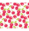 red simple cherry seamless pattern vector image vector image