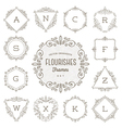 set flourishes calligraphic ornament frames vector image vector image