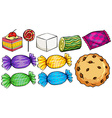 Set of candies vector image vector image