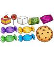 Set of candies vector image
