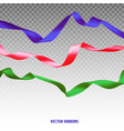 set of three colorful ribbons vector image vector image