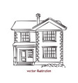 sketch wooden house vector image vector image
