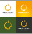 solar energy icon and logo vector image vector image