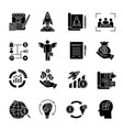 startup glyph icons vector image